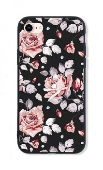 Zadní pevný kryt LUXURY na iPhone SE 2020 Black Roses