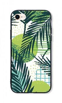 Zadní pevný kryt LUXURY na iPhone SE 2020 Green Leaves