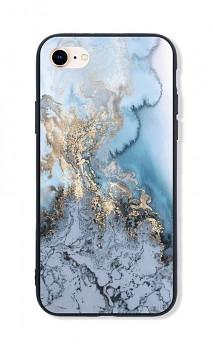 Zadní pevný kryt LUXURY na iPhone SE 2020 Marble Blue