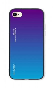Zadní pevný kryt LUXURY na iPhone SE 2020 duhový purpurový
