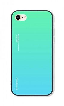 Zadní pevný kryt LUXURY na iPhone SE 2020 duhový zelený