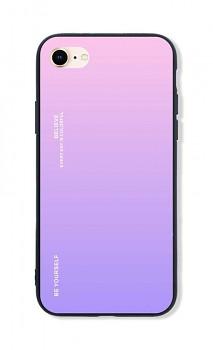 Zadní pevný kryt LUXURY na iPhone SE 2020 duhový růžový
