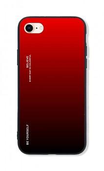 Zadní pevný kryt LUXURY na iPhone SE 2020 duhový červený