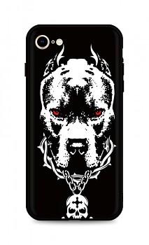 Zadní silikonový kryt DARK na iPhone SE 2020 Fighting Dog