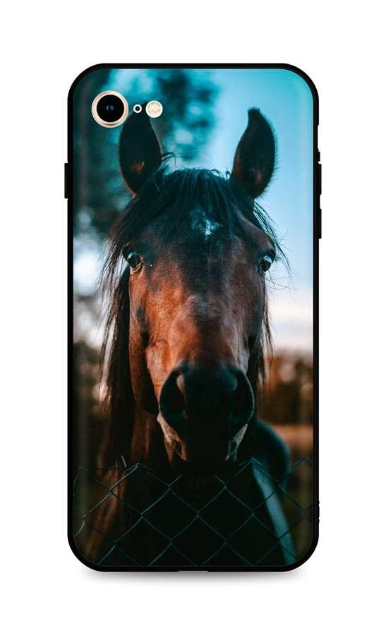 Kryt TopQ iPhone SE 2020 silikon Horse 49268 (pouzdro neboli obal na mobil iPhone SE 2020)