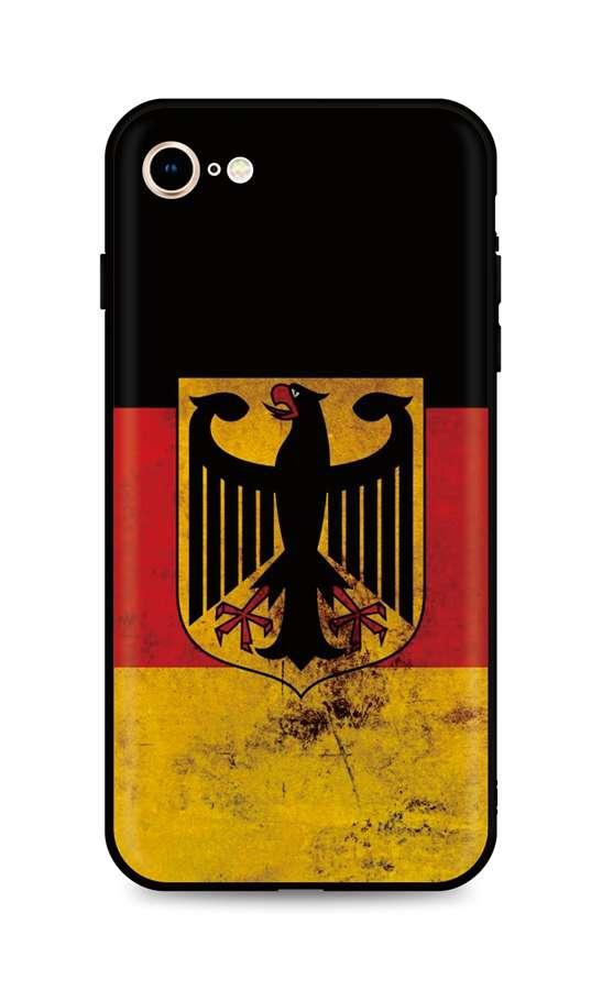 Kryt TopQ iPhone SE 2020 silikon Germany 49272 (pouzdro neboli obal na mobil iPhone SE 2020)