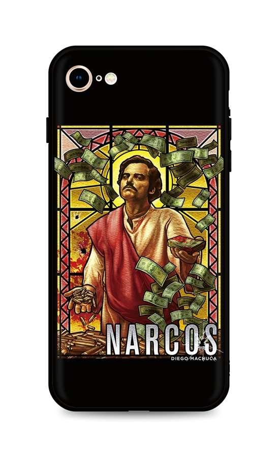 Kryt TopQ iPhone SE 2020 silikon Narcos 49275 (pouzdro neboli obal na mobil iPhone SE 2020)