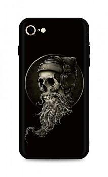 Zadní silikonový kryt DARK na iPhone SE 2020 Music Skeleton