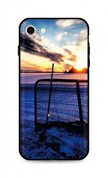 Zadní silikonový kryt DARK na iPhone SE 2020 Hockey Sunset