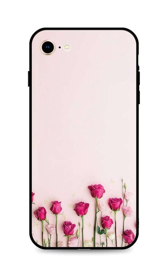Kryt TopQ iPhone SE 2020 silikon Roses 49294 (pouzdro neboli obal na mobil iPhone SE 2020)