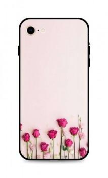 Zadní silikonový kryt DARK na iPhone SE 2020 Roses