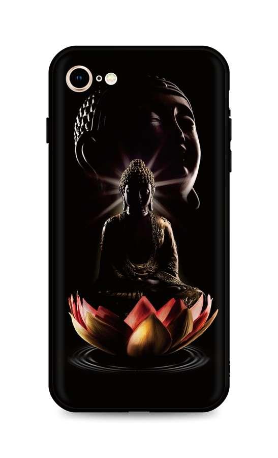 Zadní silikonový kryt DARK na iPhone SE 2020 Meditation