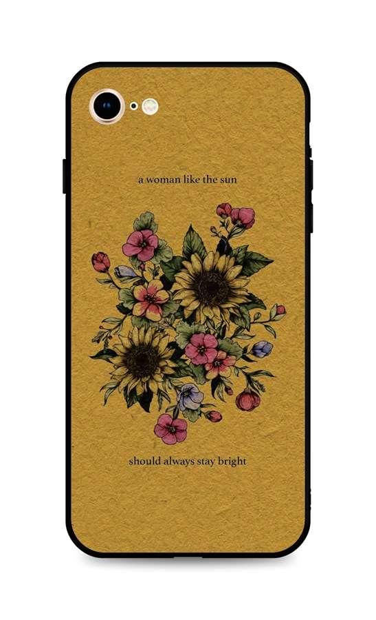 Kryt TopQ iPhone SE 2020 silikon Bouquet 49307 (pouzdro neboli obal na mobil iPhone SE 2020)