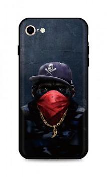 Zadní silikonový kryt DARK na iPhone SE 2020 Monkey Gangster