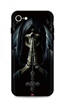 Zadní silikonový kryt DARK na iPhone SE 2020 Grim Reaper