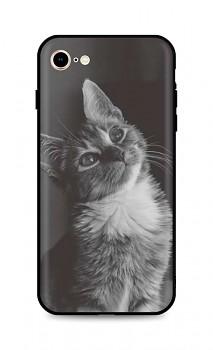 Zadní silikonový kryt DARK na iPhone SE 2020 Cute Cat