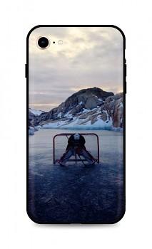 Zadní silikonový kryt DARK na iPhone SE 2020 Hockey Goalie