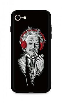 Zadní silikonový kryt DARK na iPhone SE 2020 Albert Einstein