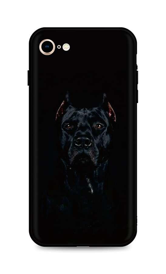 Kryt TopQ iPhone SE 2020 silikon Dark Pitbull 49322 (pouzdro neboli obal na mobil iPhone SE 2020)