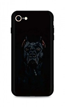 Zadní silikonový kryt DARK na iPhone SE 2020 Dark Pitbull