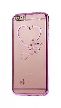 Zadní silikonový kryt na iPhone SE 2020 Sweet Heart fialový