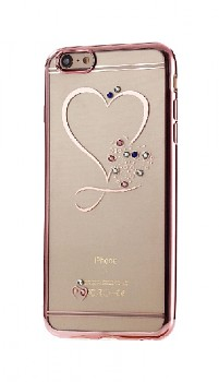 Zadní silikonový kryt na iPhone SE 2020 Sweet Heart růžový