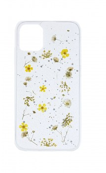 Zadní silikonový kryt na iPhone 11 Kytičky žluté