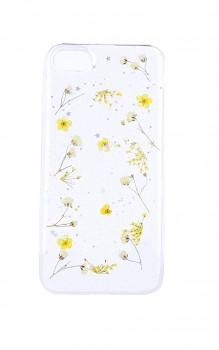 Zadní silikonový kryt na iPhone SE 2020 Kytičky žluté