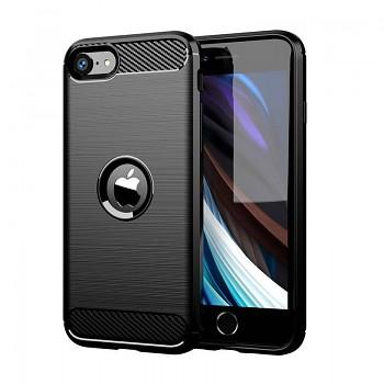 Zadní silikonový kryt na iPhone SE 2020 černý