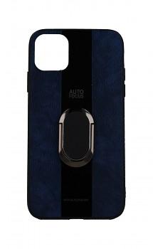 Zadní silikonový kryt Auto Focus na iPhone 11 modrý s prstenem