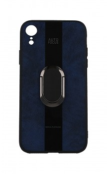 Zadní silikonový kryt Auto Focus na iPhone XR modrý s prstenem