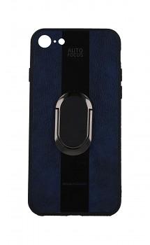Zadní silikonový kryt Auto Focus na iPhone SE 2020 modrý s prstenem