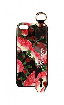 Zadní silikonový kryt na iPhone SE 2020 Retro Flower 2