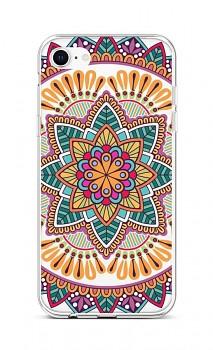 Zadní silikonový kryt na iPhone SE 2020 Happy Mandala
