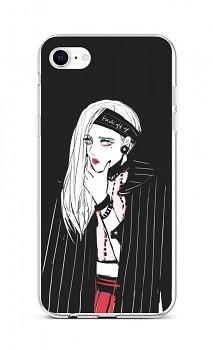 Zadní silikonový kryt na iPhone SE 2020 Dark Girl