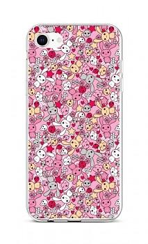 Zadní silikonový kryt na iPhone SE 2020 Pink Bunnies
