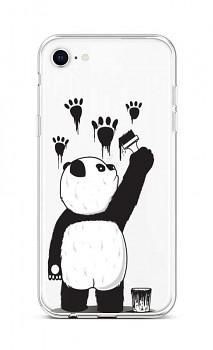 Zadní silikonový kryt na iPhone SE 2020 Rebel Panda