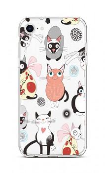 Zadní silikonový kryt na iPhone SE 2020 Cats 2