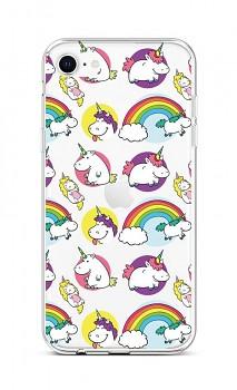 Zadní silikonový kryt na iPhone SE 2020 Chunky Unicorns