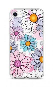 Zadní silikonový kryt na iPhone SE 2020 Colorful Daisy