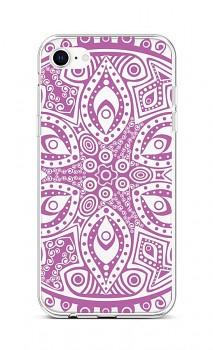 Zadní silikonový kryt na iPhone SE 2020 Violet Mandala