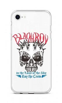 Zadní silikonový kryt na iPhone SE 2020 Black Roy