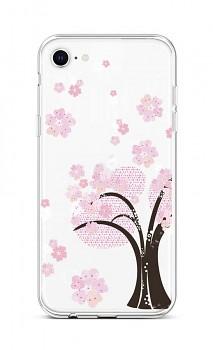 Zadní silikonový kryt na iPhone SE 2020 Cherry Tree