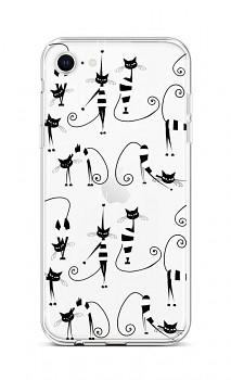 Zadní silikonový kryt na iPhone SE 2020 Cats 1