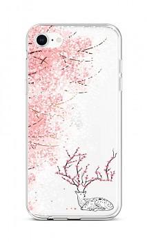 Zadní silikonový kryt na iPhone SE 2020 Blooming Deer