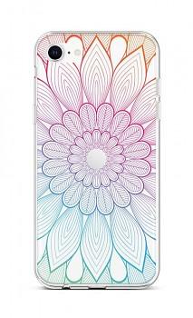 Zadní silikonový kryt na iPhone SE 2020 Rainbow Mandala