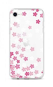 Zadní silikonový kryt na iPhone SE 2020 Pink Blossom