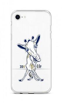 Zadní silikonový kryt na iPhone SE 2020 Zoo Life