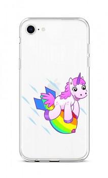 Zadní silikonový kryt na iPhone SE 2020 Flying Unicorn
