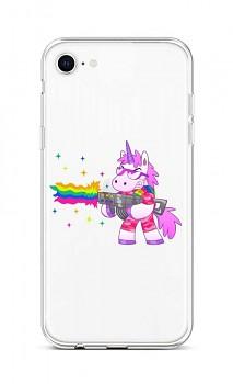 Zadní silikonový kryt na iPhone SE 2020 Rainbow Gun